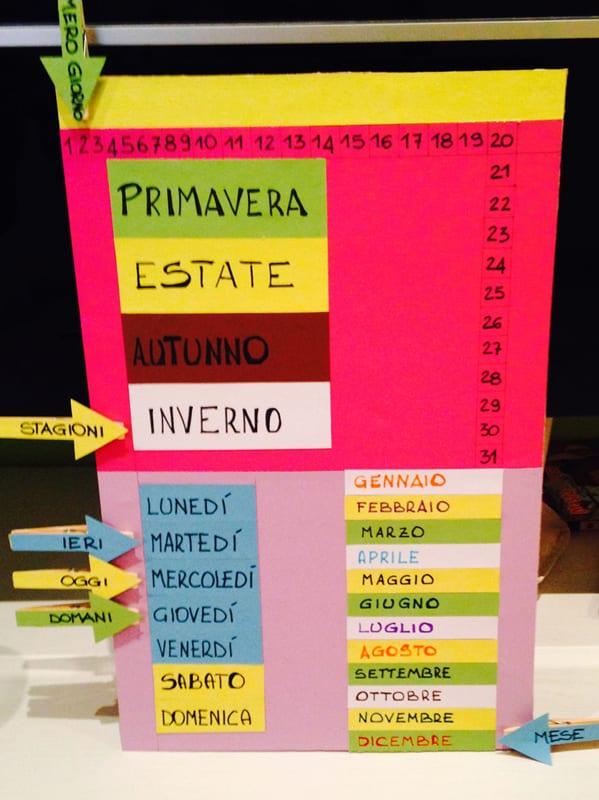 Calendario Per Bambini Fai Da Te.Calendario Per Bambini Handmade Lettoaquattropiazze It