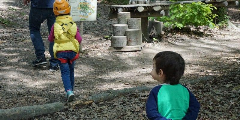 una domenica al parco avventura per bambini