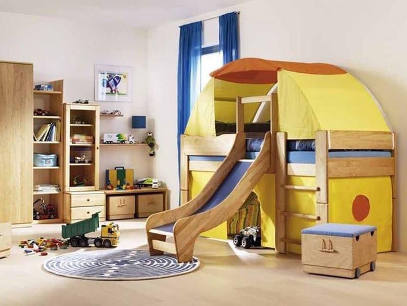 Camerette per bambini su misura in legno
